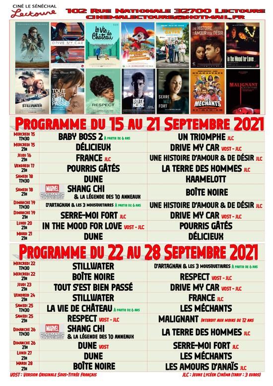 Page 1 Programme du 15 au 28 septembre 2021